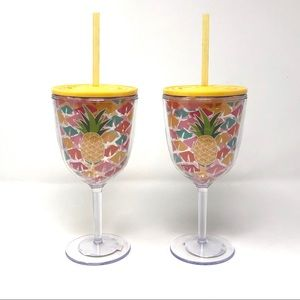 Celebrate it Tropical Pineapple Plastic Goblets